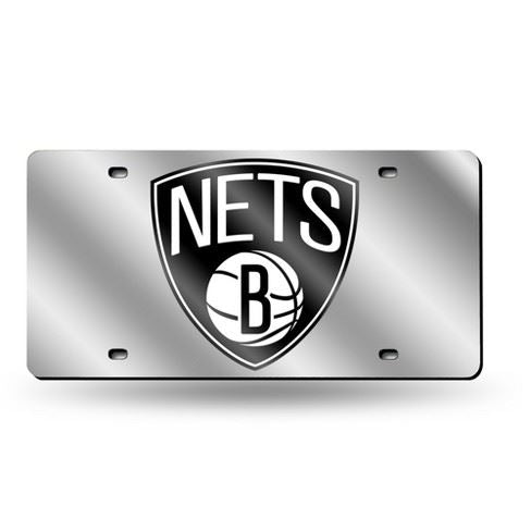 Rico NBA Brooklyn Nets Laser Cut Mirror Auto Tag Car License Plate LZS