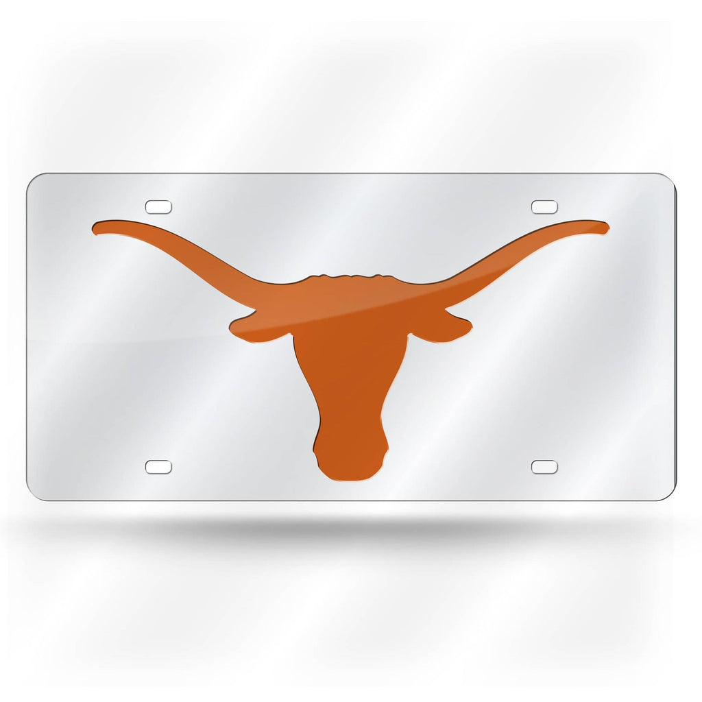 Rico NCAA Texas Longhorns Laser Cut Mirror Auto Tag Car License Plate