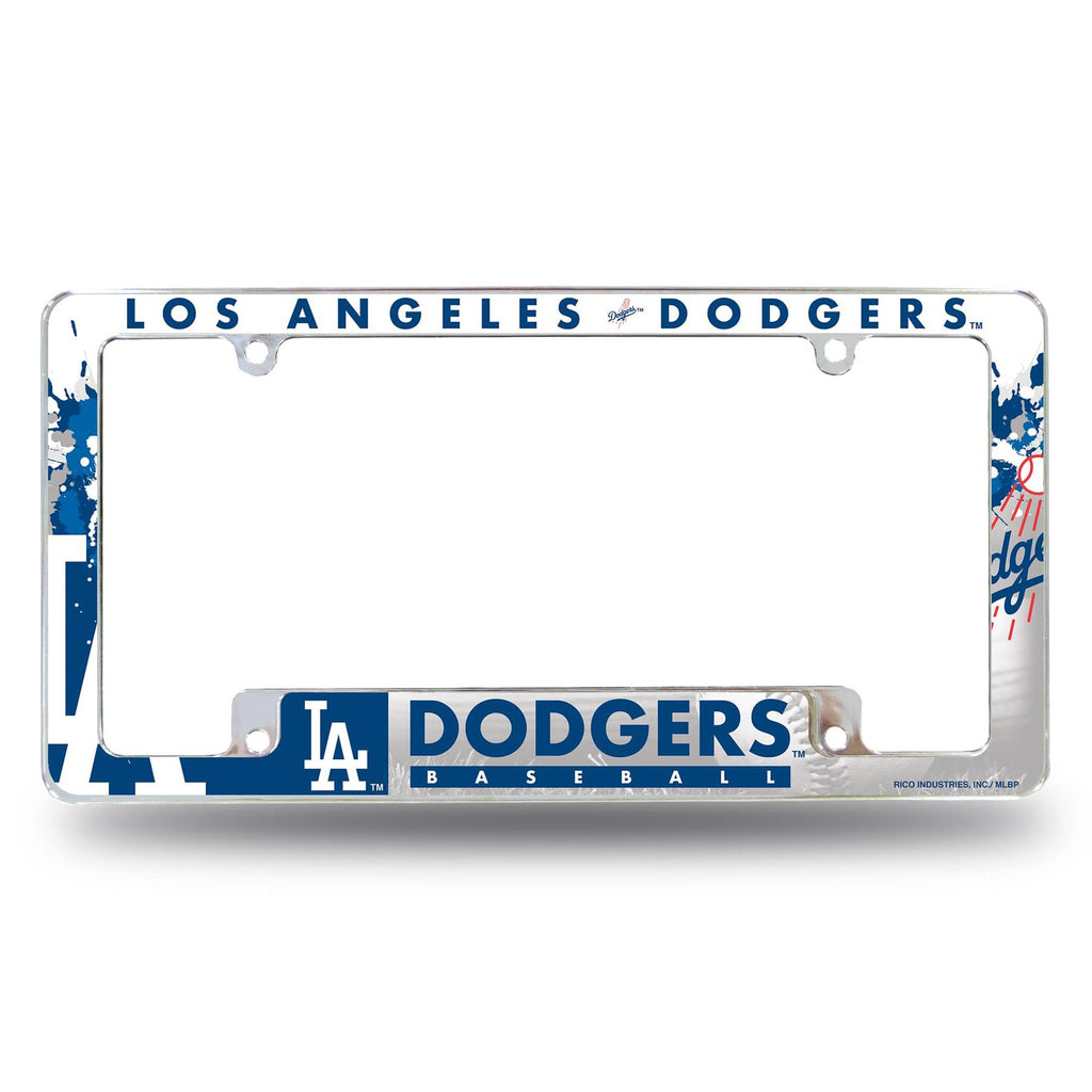 Rico MLB Los Angeles Dodgers Auto Tag All Over Chrome Frame AFC
