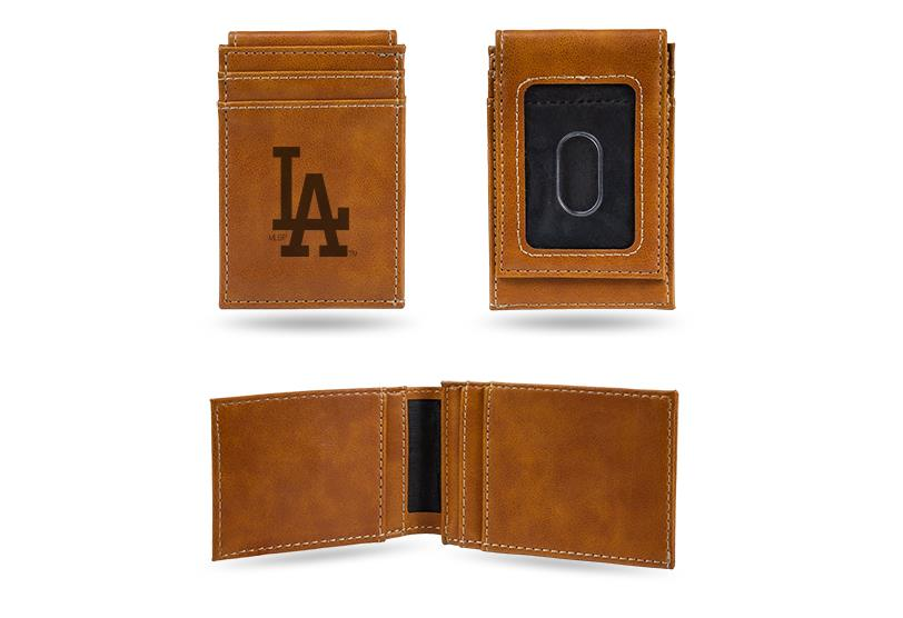 Rico MLB Los Angeles Dodgers Laser Engraved Front Pocket Wallet