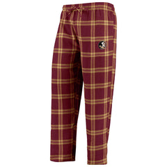 Concepts Sport NCAA Men's Florida State Seminoles Troupe Shirt And Pants Pajama Sleepwear 2-Piece Set
