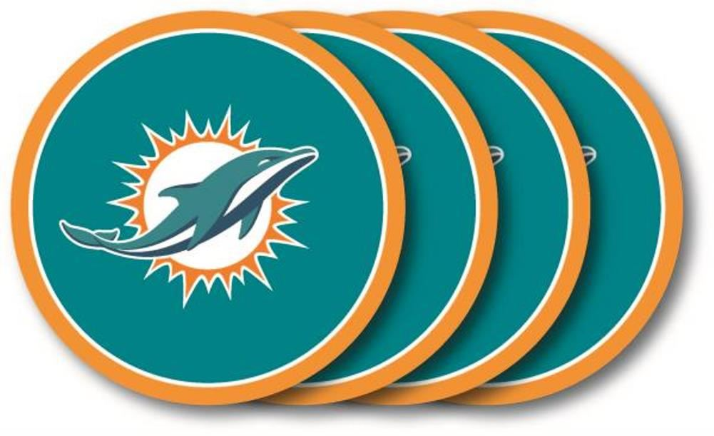 Duck House NFL Miami Dolphins Coaster Set 4-Pack
