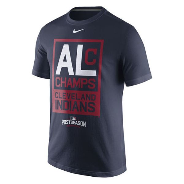 Nike MLB Men's Cleveland Indians 2016 American League Champs T-Shirt