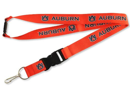 Aminco NCAA Auburn Tigers Breakaway Lanyard Orange