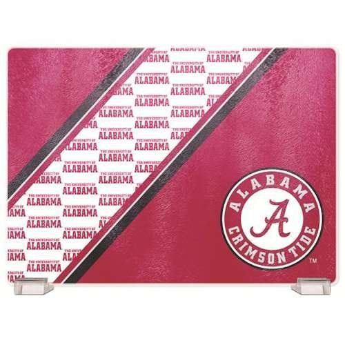 "Duckhouse NCAA Alabama Crimson Tide Glass Cutting Board 14""x10"""