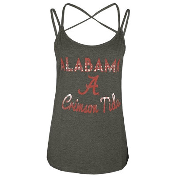 Colosseum NCAA Women's Alabama Crimson Tide Hitter Double Strap Tank Top
