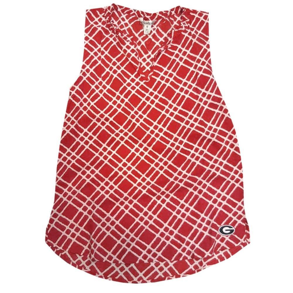 Pressbox NCAA Women's Georgia Bulldogs Scarlett Top