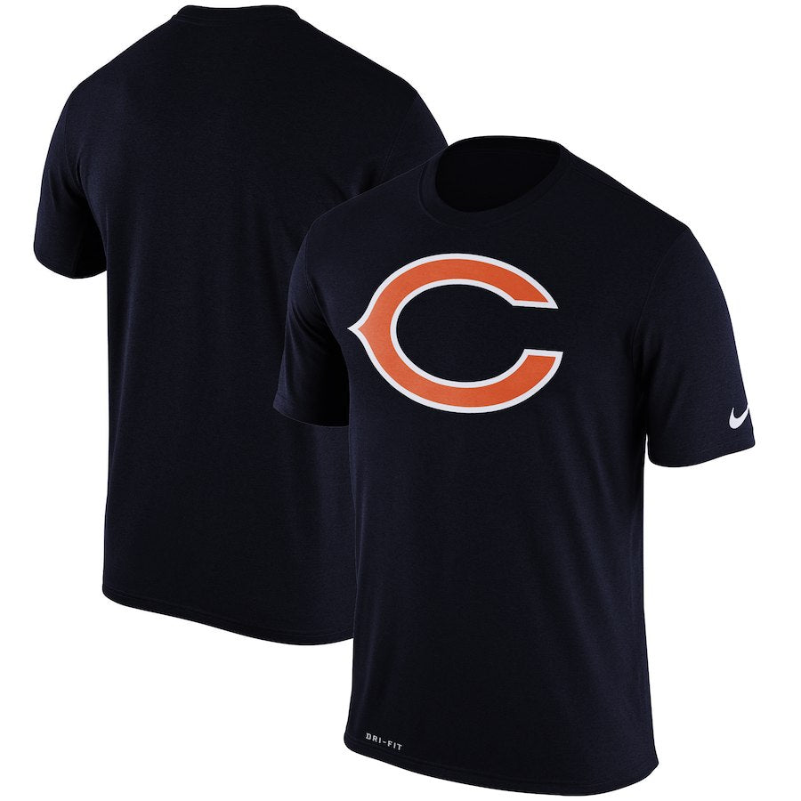 Nike NFL Men's Chicago Bears Dri-Fit Logo Essential 3 T-Shirt Navy