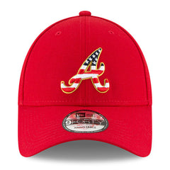 New Era MLB Men's Atlanta Braves Stars And Stripes 4th Of July 9FORTY Adjustable Hat