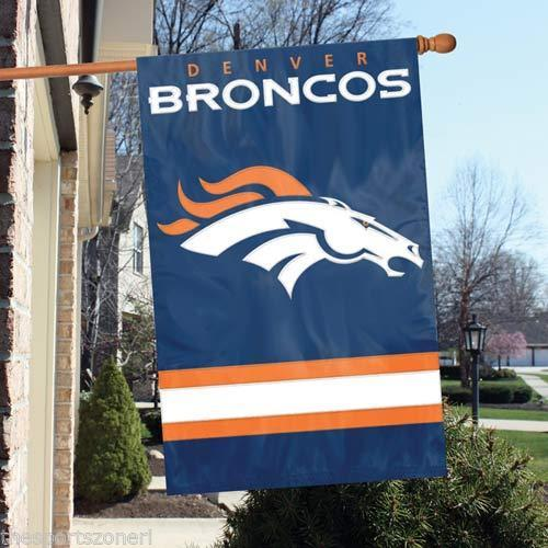 Party Animal NFL Denver Broncos 28 x 44 House Banner Flag