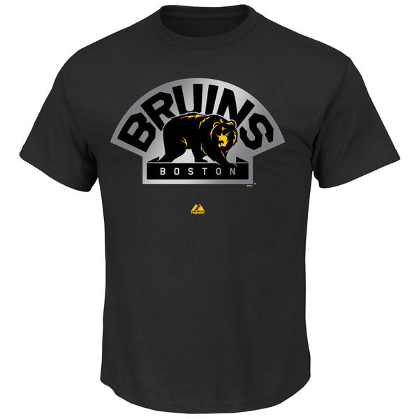 Majestic NHL Men's Boston Bruins Reflective Logo T-Shirt