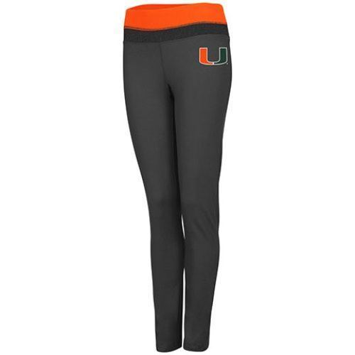 Colosseum NCAA Women's Miami Hurricanes Princess Leggings Charcoal/Orange
