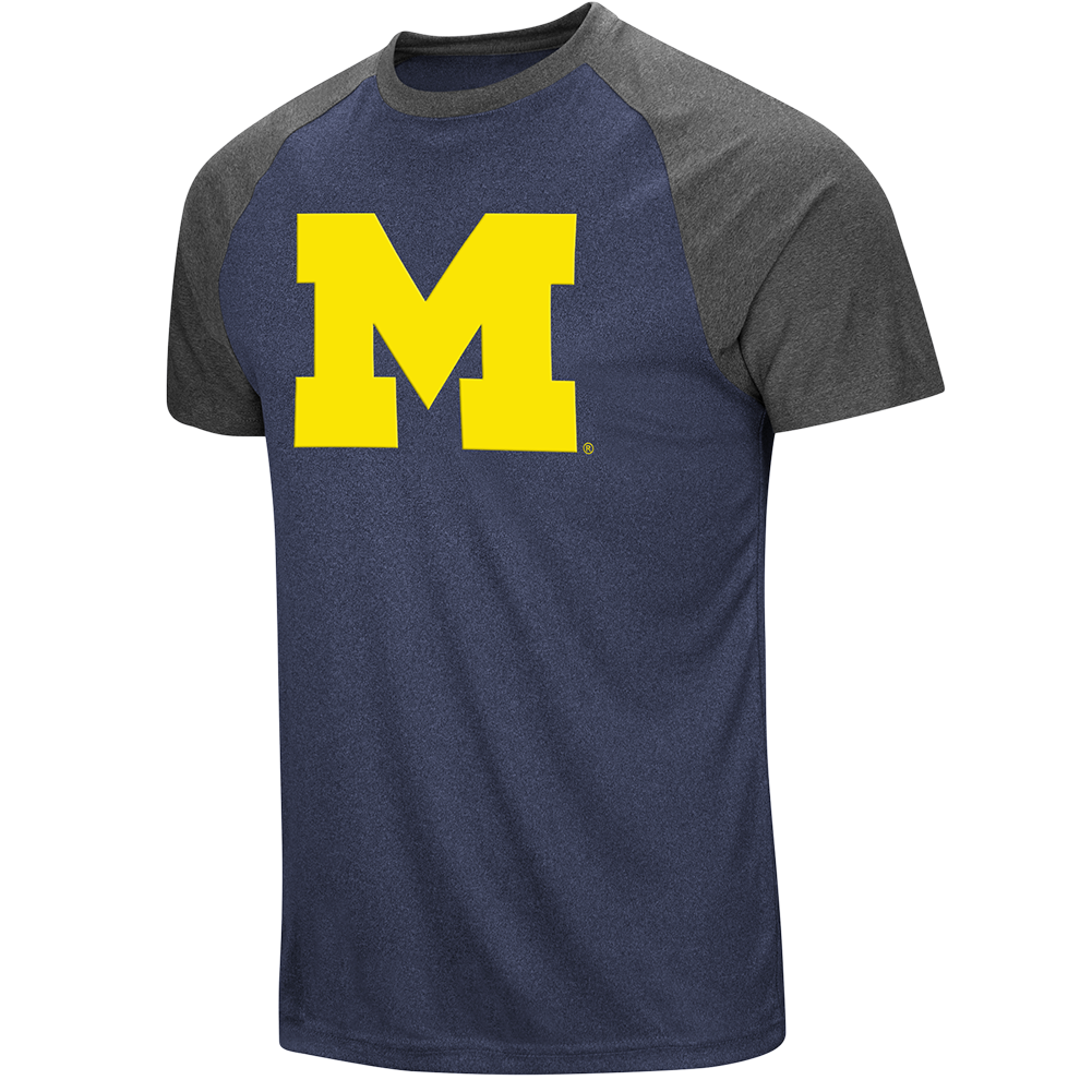 Colosseum NCAA Men's Michigan Wolverines The Heat Raglan T-Shirt