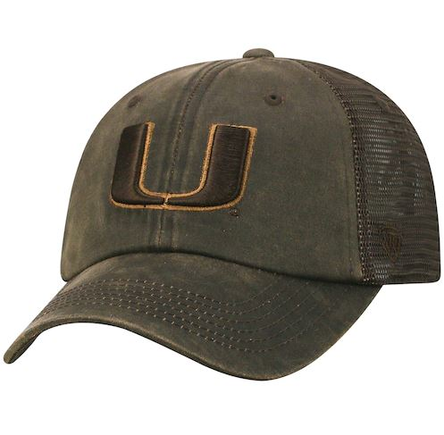 info for 2dc8b ce1aa Top of The World NCAA Miami Hurricanes Chesnut Mesh Hat Brown Adjustable
