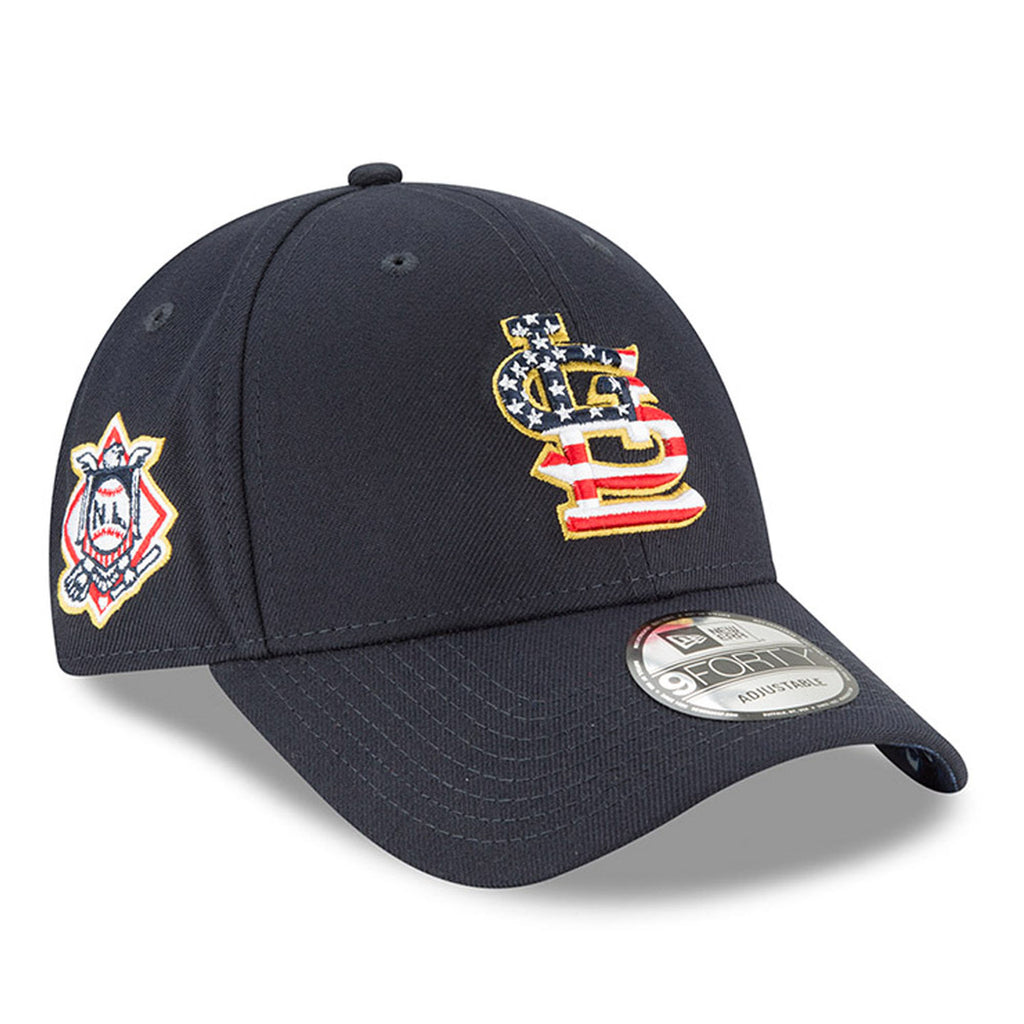 New Era MLB Men's St. Louis Cardinals Stars And Stripes 4th Of July 9FORTY Adjustable Hat