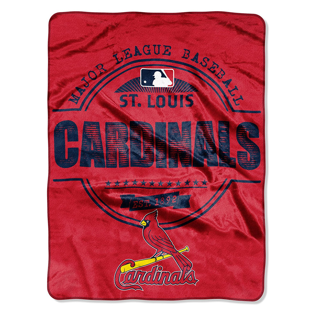 The Northwest Company MLB St. Louis Cardinals Structure Micro-Raschel Throw Red