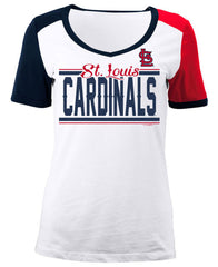 5th & Ocean MLB Women's St. Louis Cardinals Space Dye T-Shirt