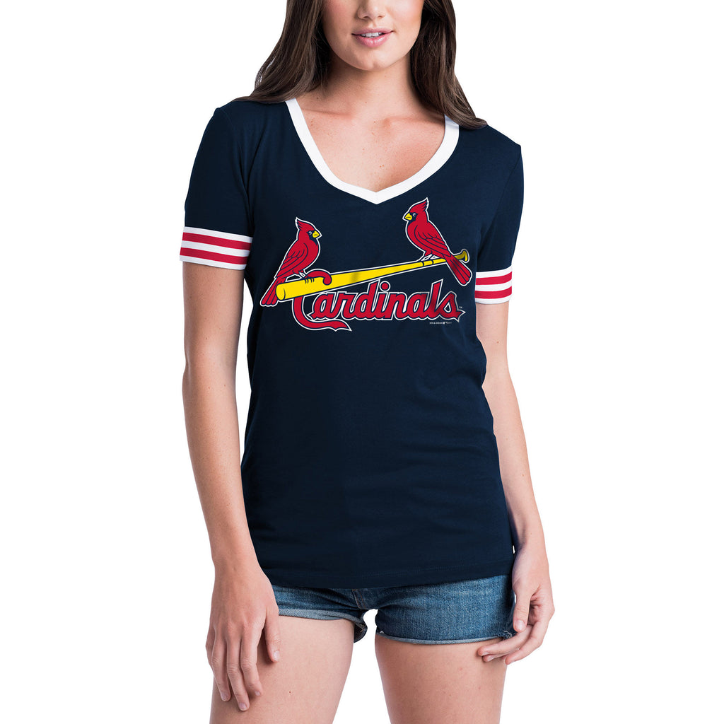 5th & Ocean MLB Women's St. Louis Cardinals Baby Jersey V-Neck
