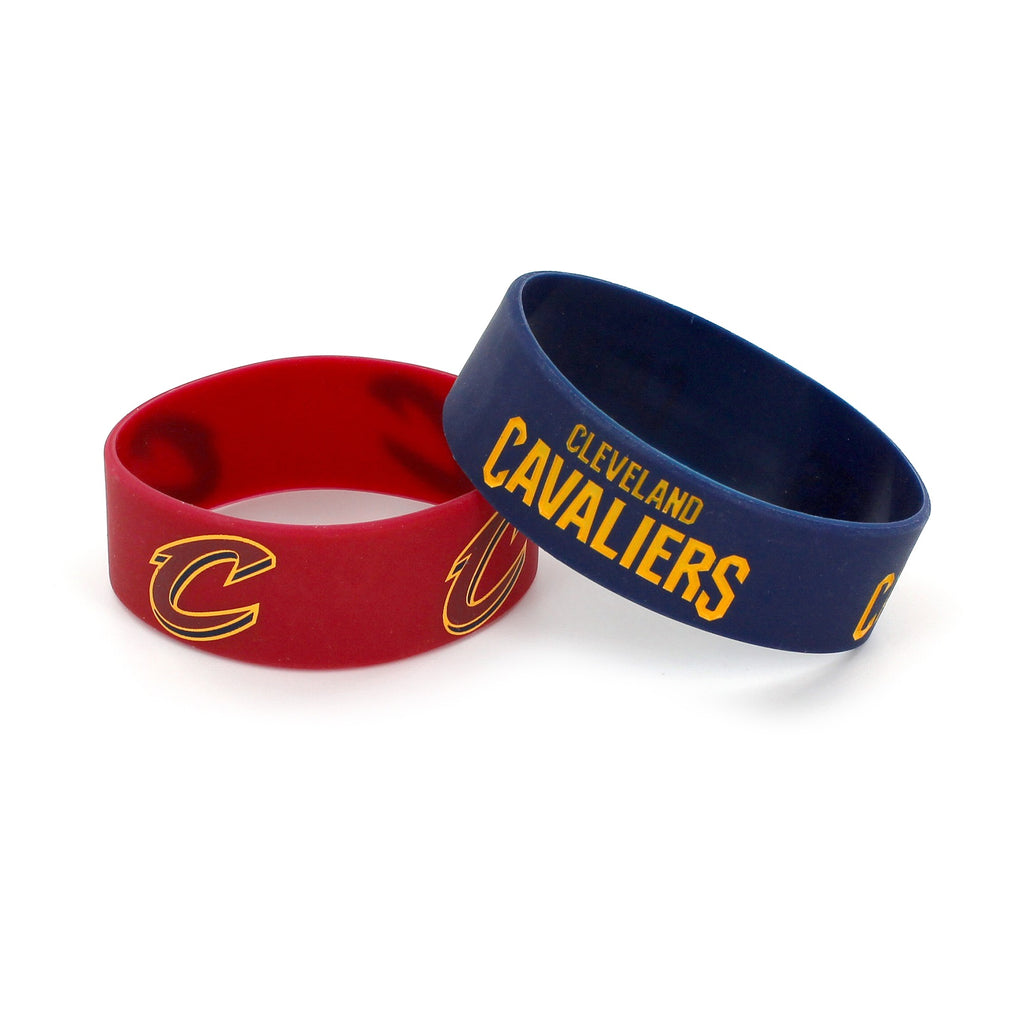 Aminco NBA Cleveland Cavaliers 2 Pack Wide Silicone Bracelets