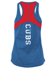 5th & Ocean MLB Women's Chicago Cubs Foil Tank Top