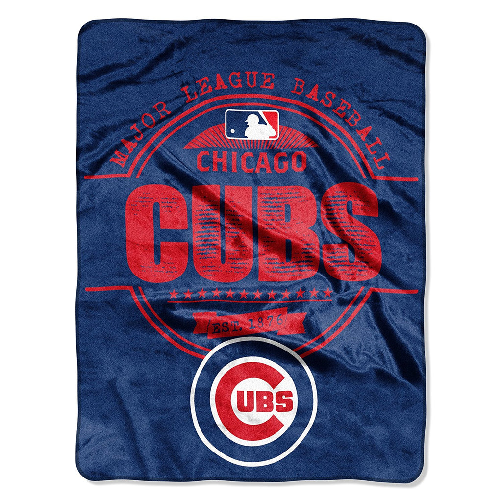 The Northwest Company MLB Chicago Cubs Structure Micro-Raschel Throw Blue
