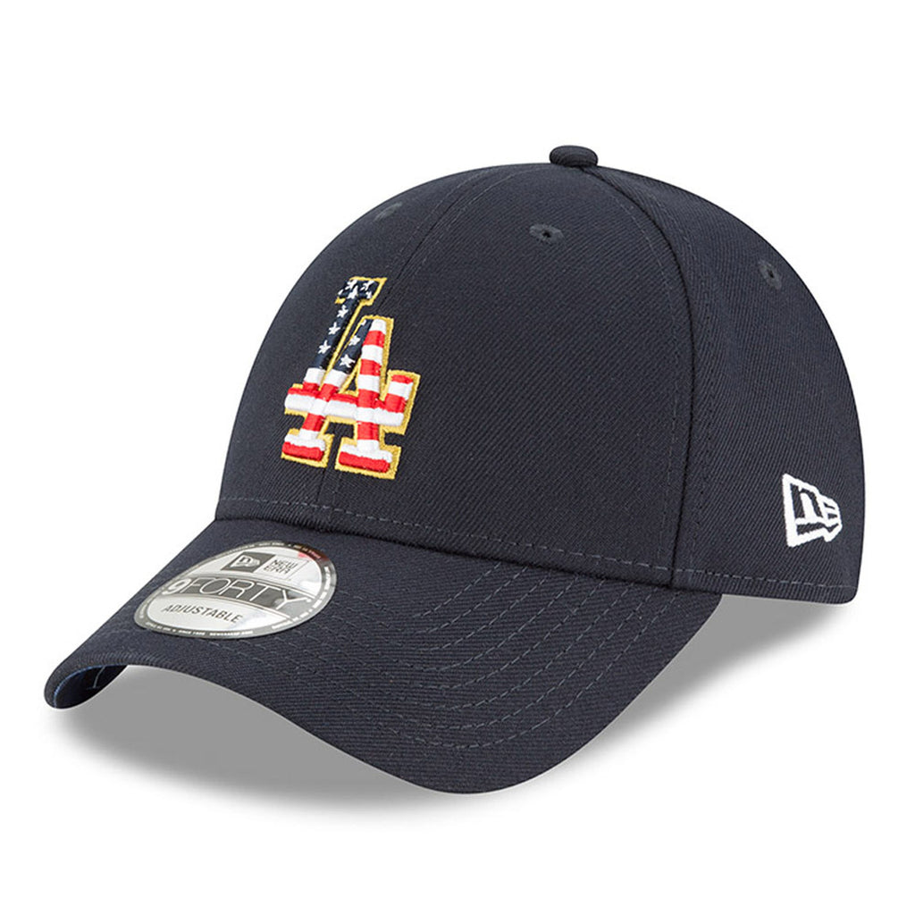 New Era MLB Men's Los Angeles Dodgers Stars And Stripes 4th Of July 9FORTY Adjustable Hat