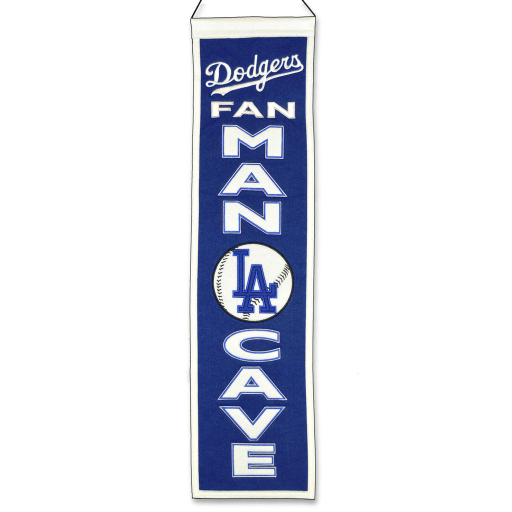 "Winning Streak MLB Los Angeles Dodgers Man Cave Wool Banner 8""x32"""