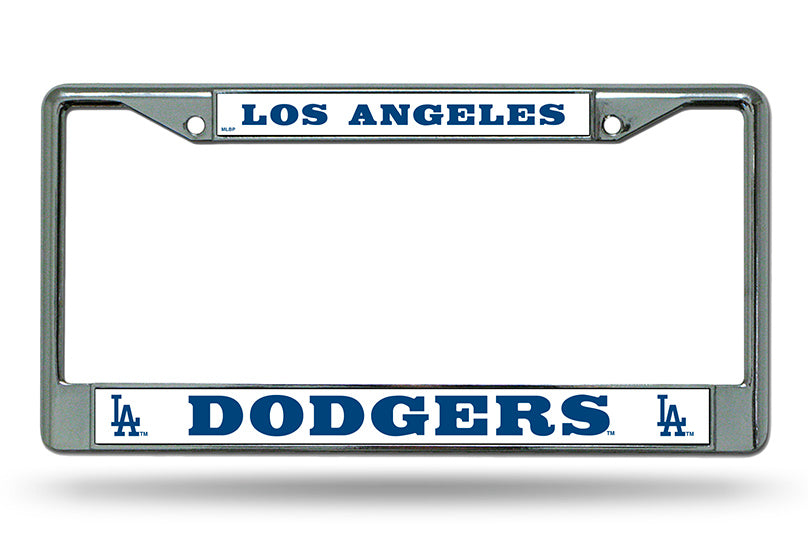 Rico MLB Los Angeles Dodgers Auto Tag Chrome Frame FC04