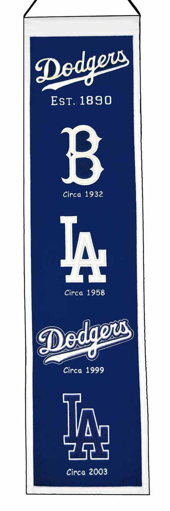 "Winning Streak MLB Los Angeles Dodgers Heritage Banner 8""x32"""