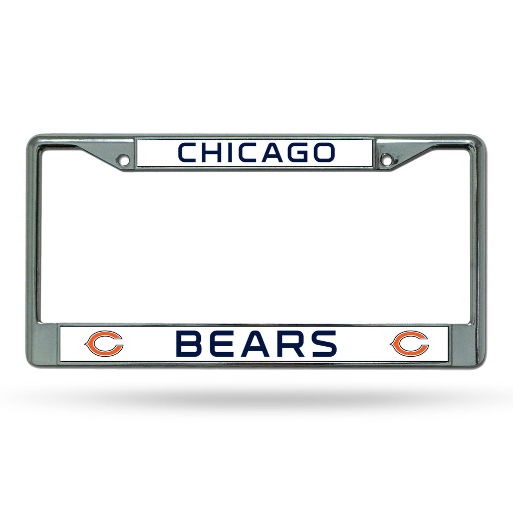 Rico NFL Chicago Bears Auto Tag Chrome Frame FC