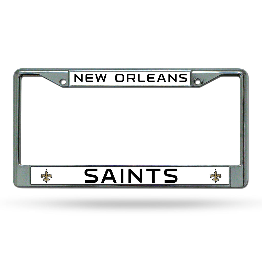 Rico NFL New Orleans Saints Auto Tag Chrome Frame FC