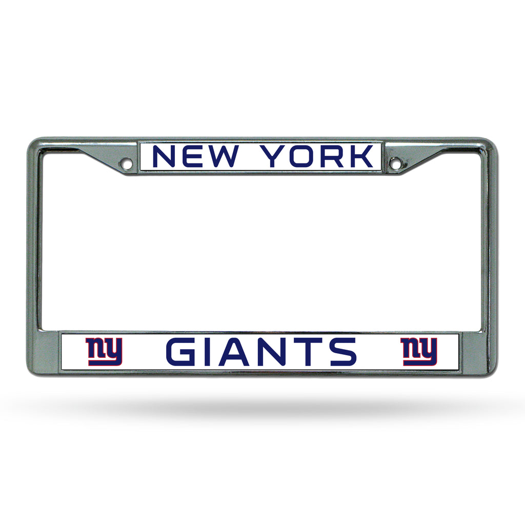 Rico NFL New York Giants Auto Tag Chrome Frame FC