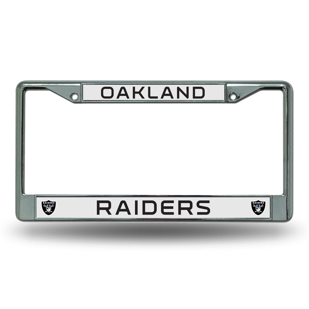 Rico NFL Oakland raiders Auto Tag Chrome Frame FC