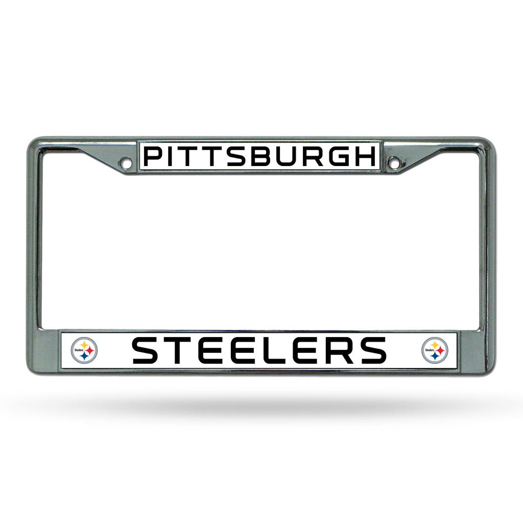 Rico NFL Pittsburgh Steelers Auto Tag Chrome Frame FC