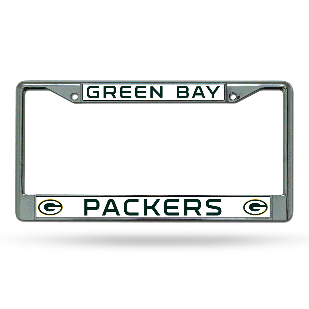 Rico NFL Green Bay Packers Auto Tag Chrome Frame FC