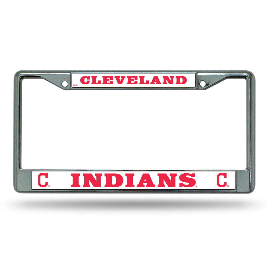 Rico MLB Cleveland Indians Auto Tag Chrome Frame FC