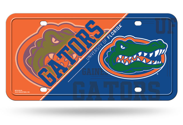 Rico NCAA Florida Gators Auto Metal Tag Car License Plate MTG