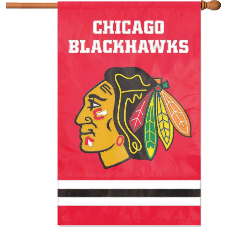 "Party Animal NHL Chicago Blackhawks 28"" x 44"" House Banner Flag"