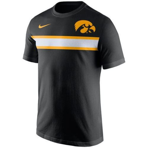 Nike NCAA Men's Iowa Hawkeyes Team Stripe T-Shirt