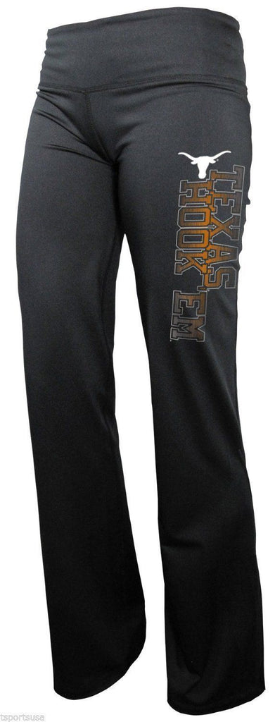Majestic NCAA Women's Texas Longhorns Pull On Boot Cut Yoga Pants Leggings