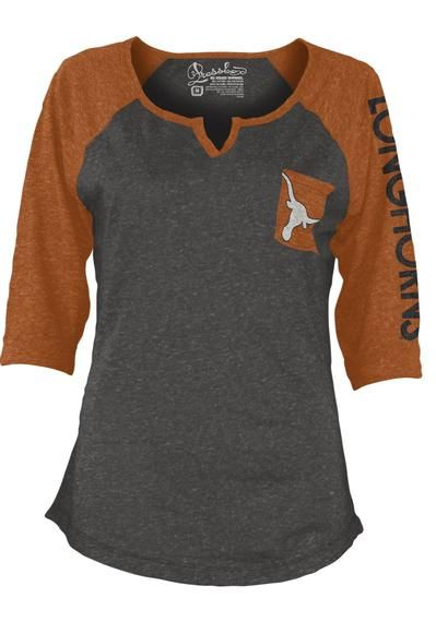 Three Square NCAA Women's Texas Longhorns  Deja Fashion Long Sleeve