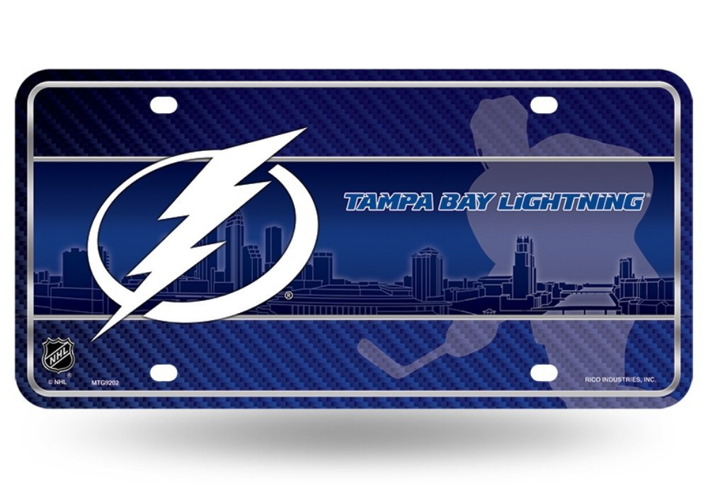 Rico NHL Tampa Bay Lightning Auto Metal Tag Car License Plate MTG