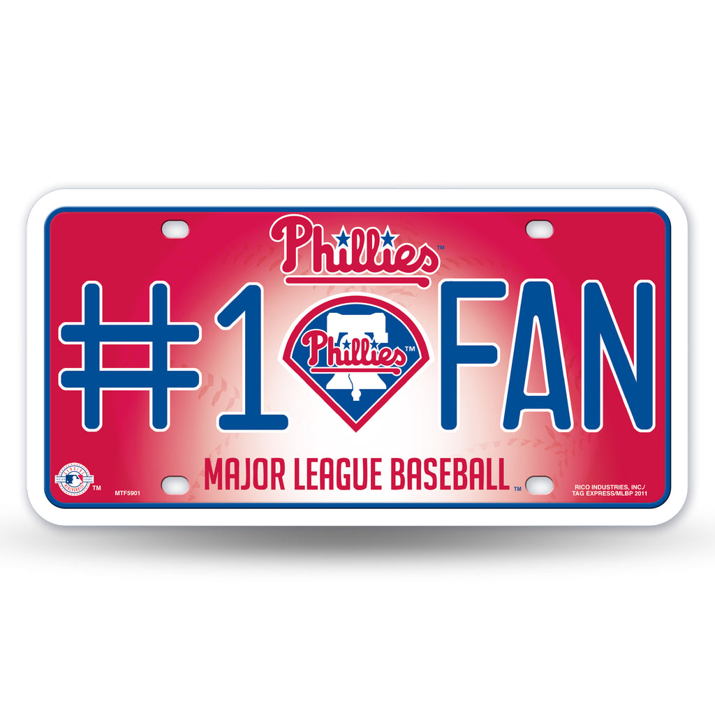 Rico MLB Philadelphia Phillies #1 FAN Auto Metal Tag Car License Plate MTG