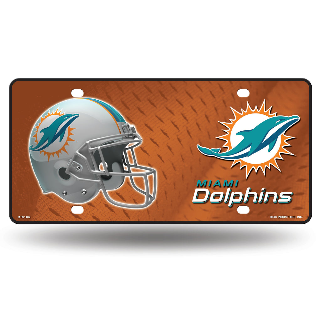 Rico NFL Miami Dolphins Auto Metal Tag Car License Plate MTG