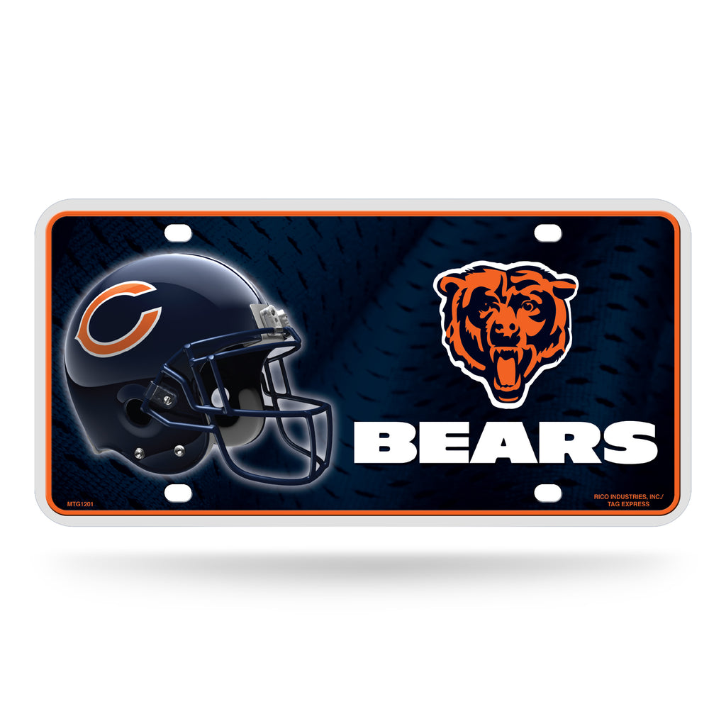 Rico NFL Chicago Bears Auto Metal Tag Car License Plate MTG