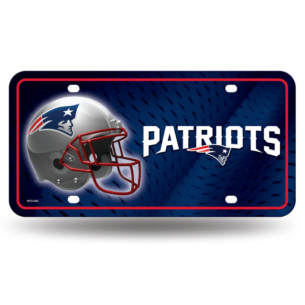 Rico NFL New England Patriots Auto Metal Tag Car License Plate MTG