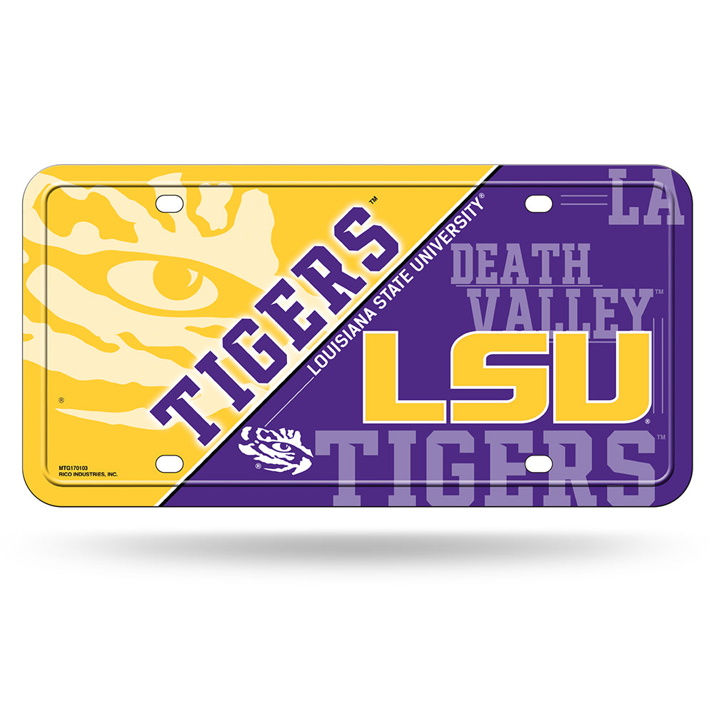 Rico NCAA LSU Tigers Auto Metal Tag Car License Plate MTG