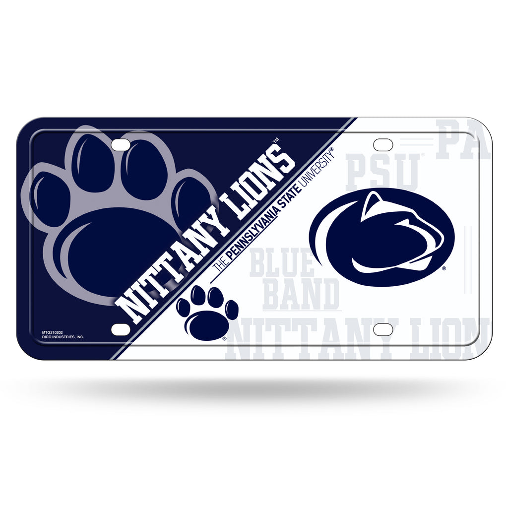 Rico NCAA Penn State Nittany Lions Auto Metal Tag Car License Plate MTG