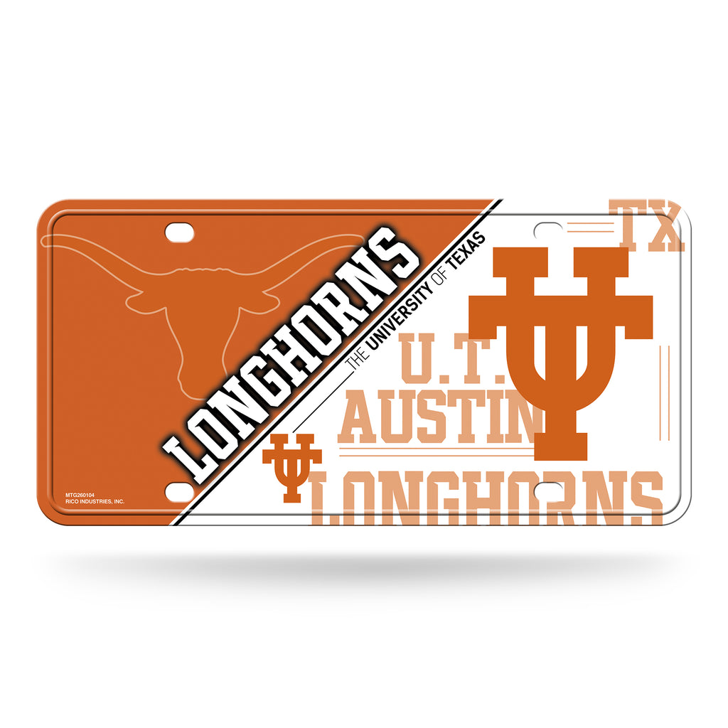 Rico NCAA Texas Longhorns  Auto Metal Tag Car License Plate MTG
