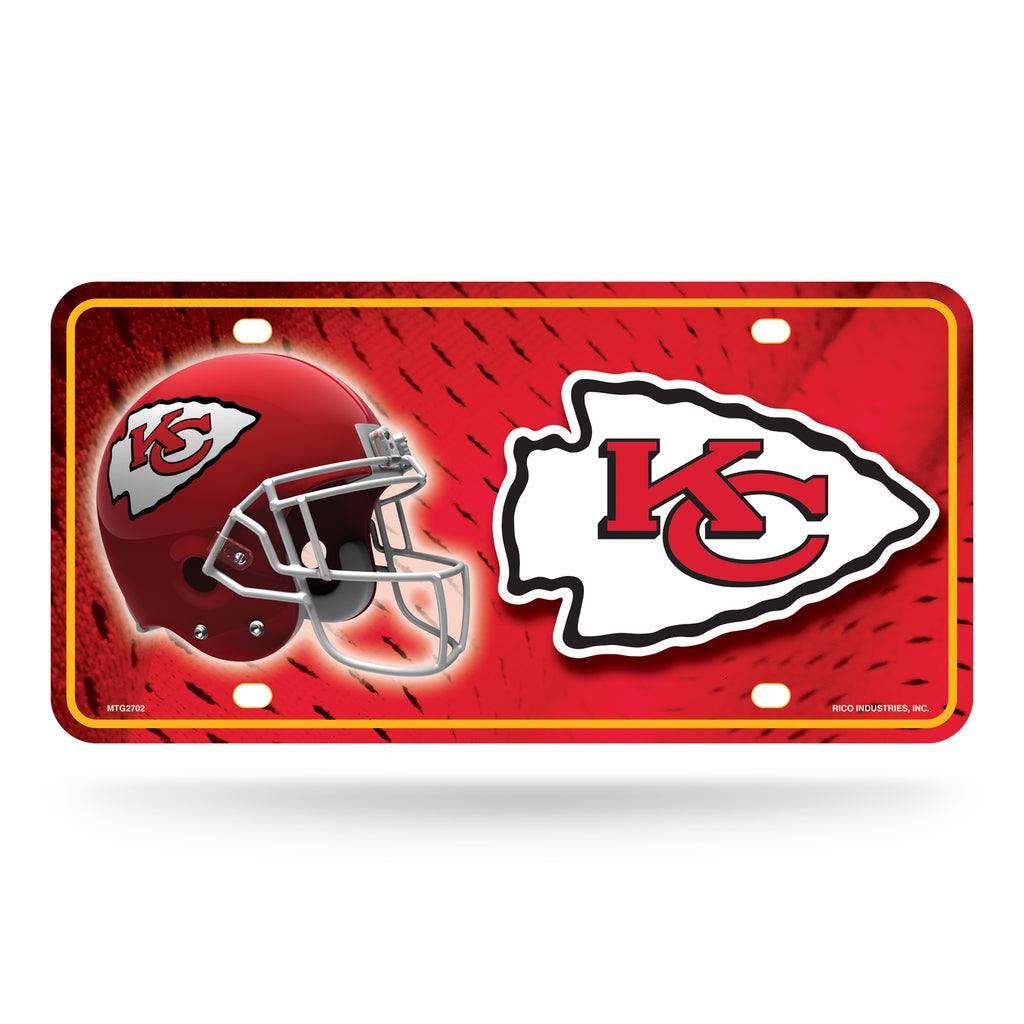 Rico NFL Kansas City Chiefs Auto Metal Tag Car License Plate MTG